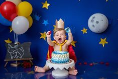 Baby Boy 1st Birthday Party, Prince Birthday, Prince Party, Baby Boy Photos, Baby Pictures, Kids Ethnic Wear, Baby Cake Smash, Baby Deco, Lucca