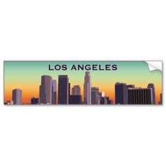 Downtown los angeles customizable image business card holder downtown la bumper sticker reheart Choice Image