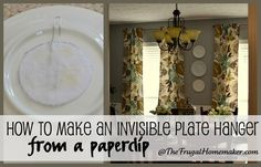 Hang plates with paper clips.