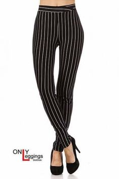 Black Pinstripe Leggings!!!