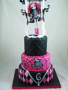Monster High Birthday Cake #MOnsterHighCake, #KidsBirthdayCakes