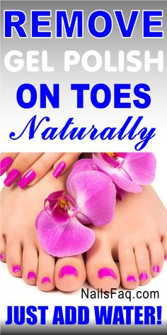 Remove gel polish on toes the easy and natural way without acetone and foils. You will not remover gel polish on toes any othe way. Learn more about this quick and simple way of remove gel polish on toes in this article. #removegelpolishontoes #removegelpolishontoesathome #removegelpolishontoeswithoutacetone Take Off Gel Nails, Gel Toe Nails, Gel Toes, Remove Gel Polish, Remove Shellac, Gel Nail Polish, Gel Nail Removal, Nail Remover, Diy Nails At Home