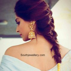 Sonam Kapoor in Antique Peacock Lakshmi Jhumkas photo