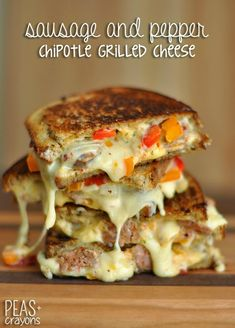 Spicy Grilled Cheese Sliders. These would be great with some
