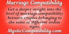 This marriage compatibility test is based on the zodiac signs of the couple. Different Zodiac Signs, Love Calculator, Mystic, Insight, Marriage, Valentines Day Weddings, Wedding, Mariage, Weddings