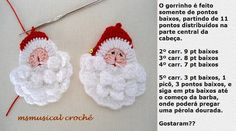 AS RECEITAS DE CROCHÊ: Papai Noel DE CROCHE