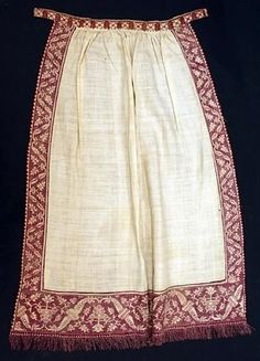 Late 16th century Italian apron