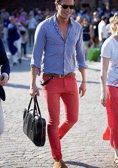 Pink Pants Coordinate #Fashion #Men's