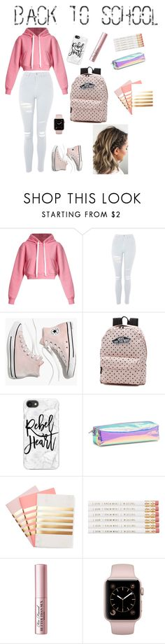 """BTS #1"" by wendyfashion on Polyvore featuring Natasha Zinko, Topshop, Madewell, Vans, Casetify, StudioSarah and Too Faced Cosmetics"
