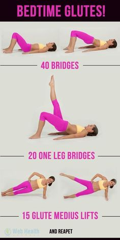 Bedtime Glutes Workout Infographic