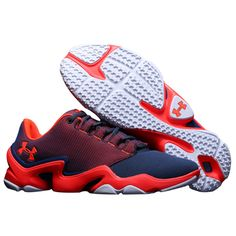 Men\u0027s Under Armour UA Phenom Proto Training Shoes Navy/Red