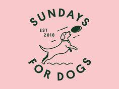 dog icon Sundays For Dogs badge illustration icons typography startup brand identity branding brand dog Logo Branding, Startup Branding, Identity Branding, Corporate Branding, Identity Design, Logo Inspiration, Dog Logo Design, Design Design, Japan Design