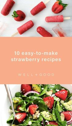 strawberry recipes Healthy Drinks, Healthy Snacks, Healthy Recipes, Delicious Breakfast Recipes, Snack Recipes, Strawberry Recipes, Tasty Dishes, Food Photo, Summer Recipes