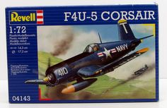 F4U-5 Corsair Military Aircraft Model Revell #04143 1/72 New – Shore Line Hobby