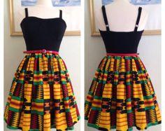 Ankara Kente Skirt for Women by ZiZiandGrace on Etsy