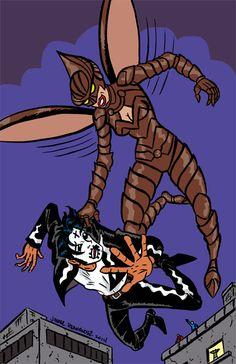 Rochelle/El Muerto commission by my friend, El Muerto creator, Javier Hernandez.
