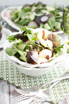 Fennel & Radish Salad with Cherry-Balsamic Vinaigrette | www.themessybakerblog.com