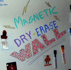 Feast your eyes on the incredibly awesome Magnetic Dry-Erase Wall! I had a problem: