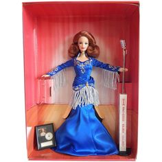Grand Ole Opry  Rising Star Barbie Royal Blue Gown, Grand Ole Opry, Vintage Barbie Dolls, Hit Songs, Barbie Friends, Barbie And Ken, Antique Dolls, How To Make, How To Wear