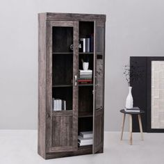 Fab Home Garston Two Door Book Cabinet Slate Grey - Books for referenceArrange your stacked books in a structured way with this 2 door book shelf in slate grey color. It offers a segregated storage for your categorized books with its sizable shelves. The natural outlook gives your living space an adorned appeal for sure. Assured longevityThis furniture accessory is crafted using quality materials for a long lasting and resilient construction by Fab Home. The expert construction allows you an…