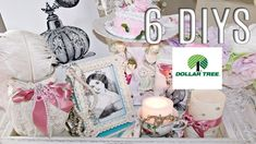 In today's video I am so excited to share with you 6 DIY Dollar Tree Chic decor crafts! Decor Crafts, Diy Crafts, Dollar Tree Decor, Acrylic Paint Set, Romantic Homes, All Holidays, French Chic, Tree Decorations, Free Graphics