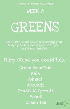 It's all about nourishing bodies this week. Green Smoothie Kale, Kale And Spinach, Snack Recipes, Snacks, Challenge Week, Sprouts, Improve Yourself, Challenges, Mindfulness