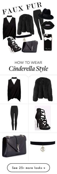 """""""Faux fur"""" by cutiepie621 on Polyvore featuring Boohoo, Balenciaga, adidas Originals, Yves Saint Laurent, Casetify and Gucci"""
