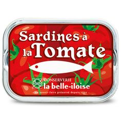 La Belle Iloise Canned Sardines Fish Food Packaging, Brand Packaging, Composition Design, Retro Advertising, Vintage Fishing, Vintage Labels, Preserves, Seafood, Food And Drink