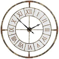 Reloj Pared Metal Redondo 108 cm