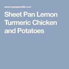 Sheet Pan Lemon Turmeric Chicken and Potatoes