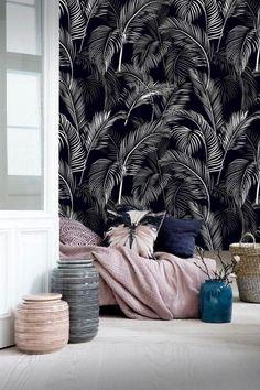 Pastell Harmoniert Einfach Perfekt Mit Der Monochromen Tapete! # Wandgestaltung #interior #living #