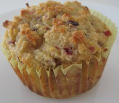 Gluten Free Cranberry Orange Muffins made with almond flour. Good for SCD diet too.