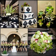 Green and black wedding