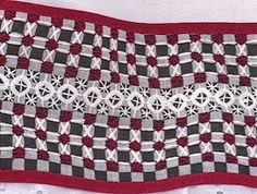 Bordado Passo a Passo: Pano de copa em bordado xadrez