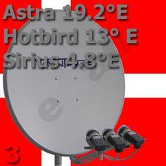 Fernsehen aus Daenemark Astra 19E Hotbird 13E Sirius 4.8E
