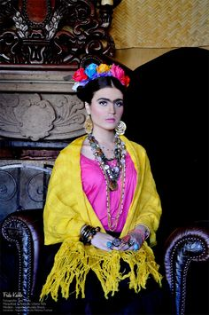 Frida kahlo inspired makeup tutorial google search - Estilo frida kahlo ...