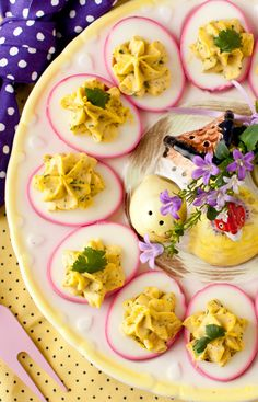 Purple Deviled Eggs