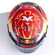 Max Verstappen RedBullRacing Helmet Design 2017