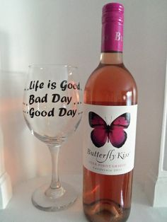 Custom Wine Glass, Good Day Bad Day, Life is Good, wine glasses, housewares, glassware, Home & Living, womens gift, birthday, gift for her