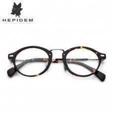 607d6972207 Acetate Optical Glasses Frame Men Metal Small Vintage Round Prescription  Eyeglasses 2018 Fashion Women Myopia Spectacles