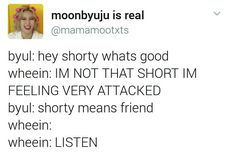 Wheein's not short, she's fun sized! || Mamamoo funny text posts