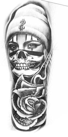 Card Tattoo Designs, Sketch Tattoo Design, Skull Tattoo Design, Tattoo Designs For Girls, Tattoo Sleeve Designs, Tattoo Sketches, Tattoo Ideas, Cool Arm Tattoos, Dope Tattoos