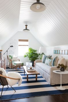 Attic Den  Living  Family Room  MidCenturyModern  Contemporary  American  Shingle Style  Cottage  Modern  Eclectic  Coastal  Transitional  Farmhouse by Matthew Caughy
