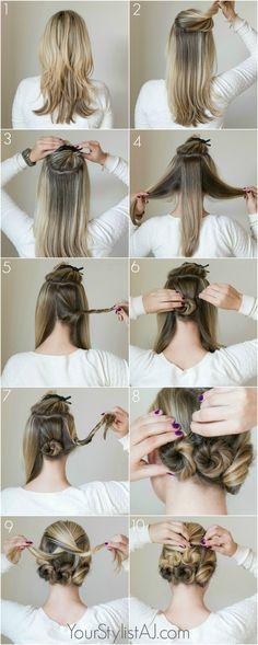 honeybuns fun easy hair tutorial YSAJ Your stylist AJ