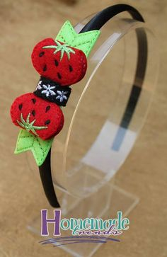 Strawberry Headband-Strawberry Hair by HomemadeTrends on Etsy
