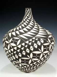 Acoma Pueblo Hand Coiled Pottery  by Sandra Victorino