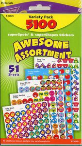 Teacher > Reward Stickers > Awesome Assortment Stickers by Trend: Stickers Galore