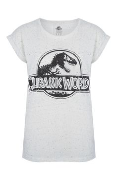 Primark - T-shirt Jurassic World mesclada branco