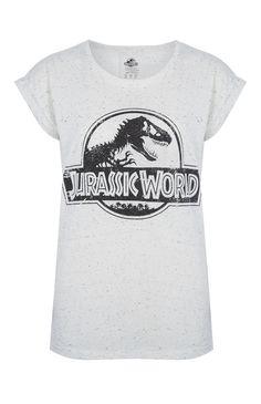 Primark - T-shirt Jurassic World blanc chin�