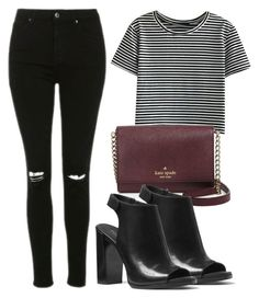 """""""Sem título #3052"""" by beatrizvilar ❤ liked on Polyvore featuring WithChic, Kate Spade, Topshop and Michael Kors"""